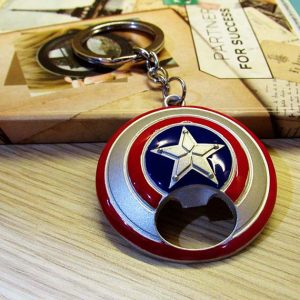 Gantungan Kunci Bottle Opener Captain America